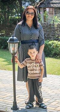 Юлия Нижник с сыном Иваном фото