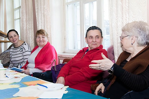 Делимся опытом на клубе здоровья в Киеве 17.02.2018 в Святошинском районе фотография