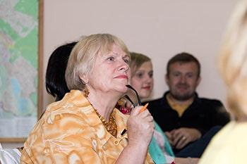 Слушая проповедь в Киеве об отношениях с детьми фотография